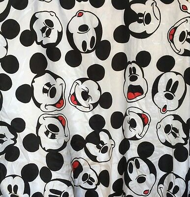 MickeY mOUsE & CO vtg jacket satin B&W all over face print disney honey fashions