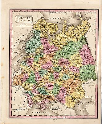 c1830 Map of Russia in Europe J.H. Young