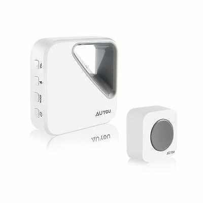 AuYou Wireless Doorbell Kit with 1 Remote Button Transmitter and 1 Receiver O...