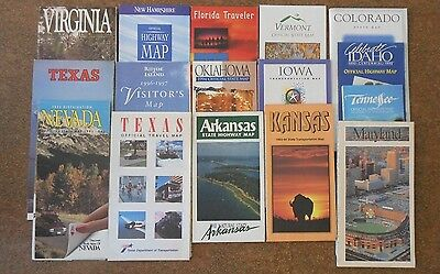 Collection of U.S. Highway Maps from the 1990's