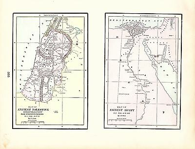 Map of Ancient Palestine and Egypt George Cram 1900