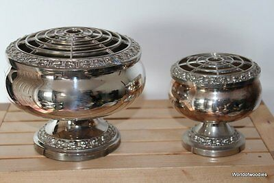 Lanthe silver plated rose bowls Large & Small