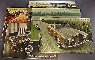 1969-1970 Rolls Royce Portfolio Brochure Silver Shadow Excellent Original