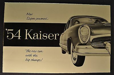 1954 Kaiser Brochure Folder Manhattan Special Darrin Excellent Original 54