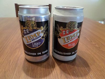Beer Can Lot of 2 Different Lemp St Louis Style Evansville Brewing Co
