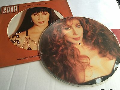 """Cher Strictly Limited Colour 12"""" Picture Disc Vinyl Whenever You're Near"""
