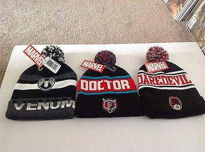 Marvel Comics Toque Knit Hat Set Daredevil Venom Doctor Strange