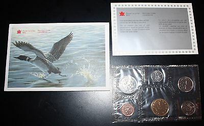 Royal Canadian Mint 6 Coin Uncirculated Set 1988 In Cellophane