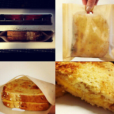1/10pcs Toaster Bag Beige Grilled Cheese Sandwiches Reusable Non-stick Lunch Hot