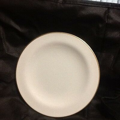 Iroquois China - 9 Dessert Plates Pattern Sheer White Gold 1959