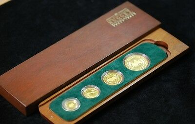 1988 Australia 4-Coin Gold Nugget Proof Set (Box)