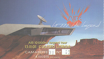 Air  Used Concert Ticket  Portugal 13/ 11 / 01