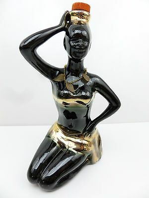 1974 Vintage Empty Bottle African Lady Luxardo MADE in itally  S4D