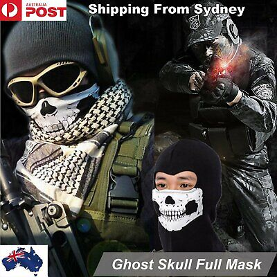 Ghost Ghosts Skull Full Face Biker Ski Winter Balaclava Motorcycle Mask Cosplay