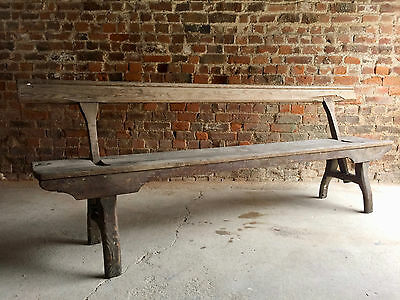 Fabulous Antique Bench Pew Pitch Pine Victorian19th Century Rustic Swivel Seat