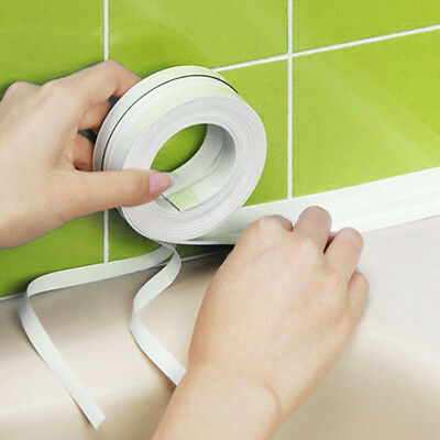 Wall Sealing Tape Waterproof Mold Proof Adhesive Tape Kitchen Bathroom PVC White