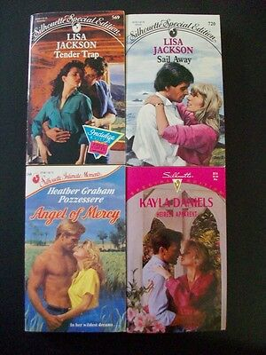 Lot of 4 romance pb LISA JACKSON Silhouette Special Edition Intimate Moments