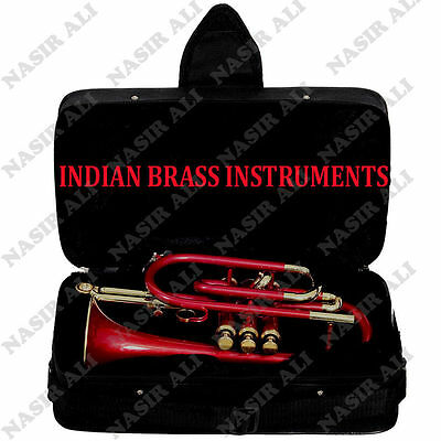 EASTER SALE IBI CORNET Bb PITCH @10% DISC. RED COLOR WITH FREE CASE + MP +SHIP