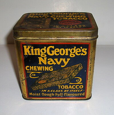 Vintage Tobacco Tin. King George's navy Chewing Tobacco.