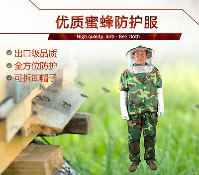 Free Shipping Anti bee suit Woodland Camo split bee clothing protective suit bee