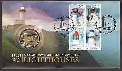 2015 Australian  PNC: Lighthouses -  Coin and Stamp Pack