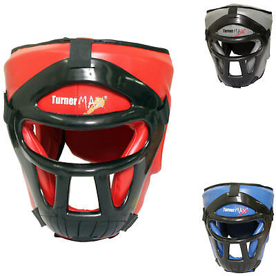 TurnerMAX Head Guard Face Protector Helmet Kick Boxing Training MMA