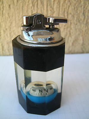 Vintage Compass Cigarette Lighter from the `70,decorative tobacco smoke,retro