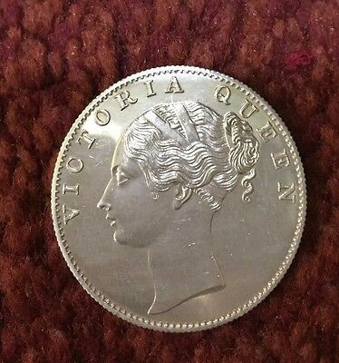 East India Company 1840 One Rupee Re-Strike Proof Coin