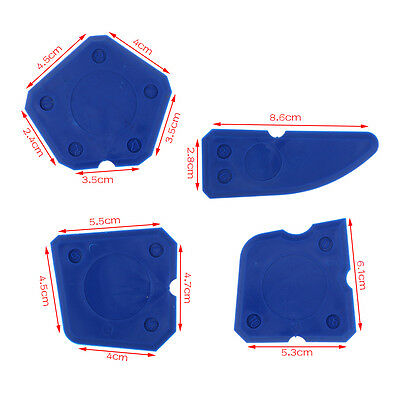 4x  Caulking Tool Kit Finishing Joint Sealant Silicone Grout Remover Scraper