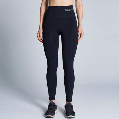 Supacore Coretech Recovery Womens Black Compression Gym Long Tights Bottoms
