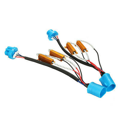 2x No Error 9007 9004 HID LED DRL Light Load Resistor Relay Harness Adapter N8C8