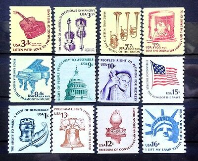 1975-81 US SC #1613-1619 & 1811-16 #1816 Americana Coil Full Set