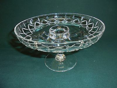 Royal Brierley Cut Glass Lead Crystal Cake Stand Comport Tazza Vintage Small
