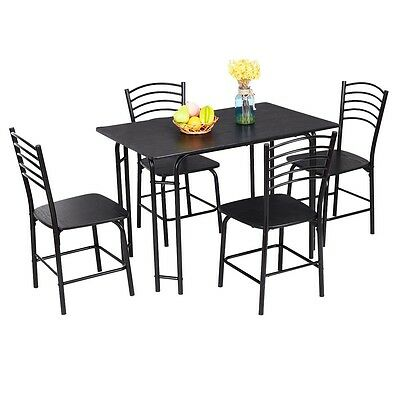 5 pcs dining table and 4 chairs set for kitchen dining room 50s Style Chairs modern kitchen dining room 1 table 4 chairs set seat ergonomics furniture 5pcs