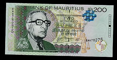 MAURITIUS  200 RUPEES 2010  PICK # 61a  UNC.