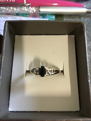 Gold Ring 9ct With Sapphire Size P