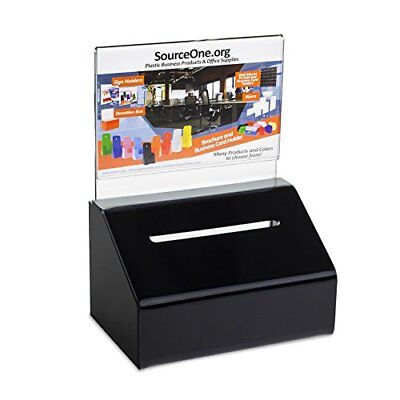 Source One Heavy Duty Donation / Ballot Box with Lock and Sign Holder (1 Pack,