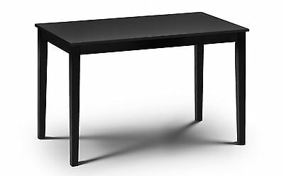 Hudson Black Wooden Rectangle Dining Table