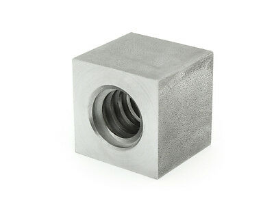 Trapezoidal Thread Nut evkm 30x6 Right Steel, Square sw45l45