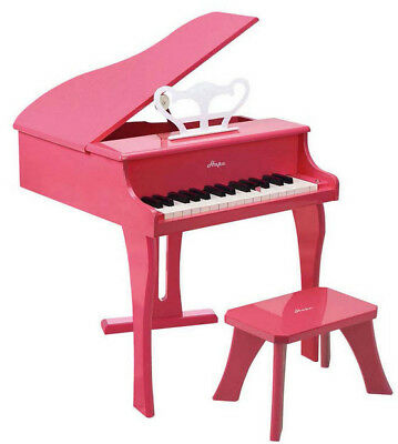 Hape Grand Piano Wooden with Seat 30 Keys Musical Toy PINK