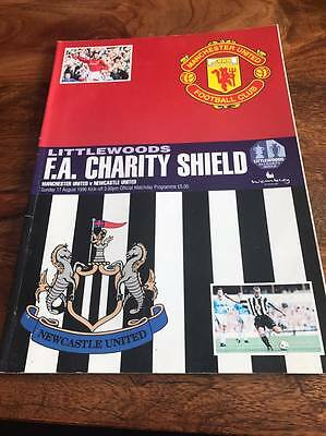 Manchester United V Newcastle 1996 Fa Charity Shield Programme Free Post Look