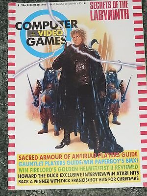 Computer and Video Games Magazine C&VG Dec 1986 (no poster)