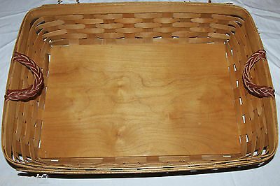 Longaberger Large Serving Basket with Lidded Divided Food Keeper