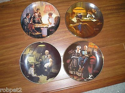 Collector plate set Of  (4 )  Norman Rockwell Light Campaion Series
