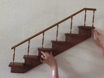 Wall Mounted Staircase Doll Display Piece for Byers Choice Dolls & Carolers