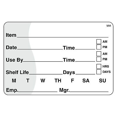 """DayMark IT110342 MoveMark Shelf Life/Use By Removable Label 2"""" x 3"""" (Roll of ..."""