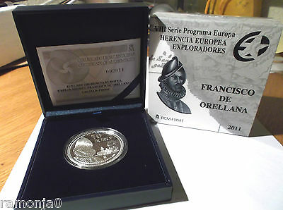 OCASIÓN moneda de 10 Euros plata, FRANCISCO DE ORELLANA. Año 2011. PROOF