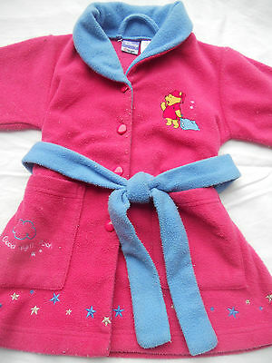 Baby  girls Winnie the Pooh pink dressing gown   Size 3