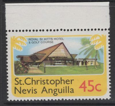 ST.KITTS-NEVIS SG401w 1978 45c DEFINITIVE WMK CROWN TO LEFT OF CA MNH