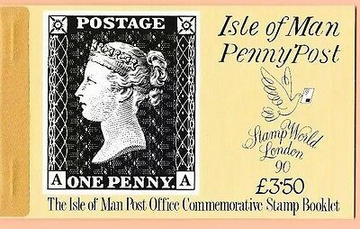 1990  Isle Of Man Stamp Booklet Sb25  'penny Post'